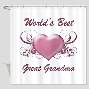 World's Best Great Grandmother (Heart) Shower Curt