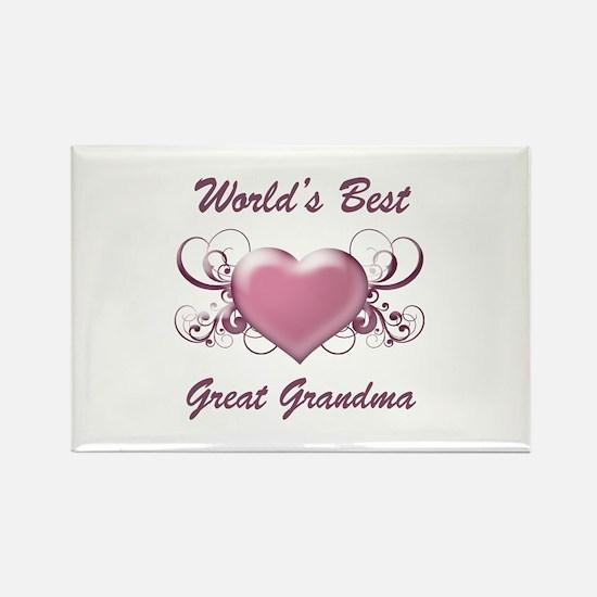 World's Best Great Grandmother (Heart) Rectangle M