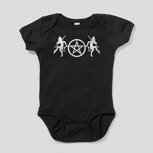 Pentacle Pan on Drk Baby Bodysuit