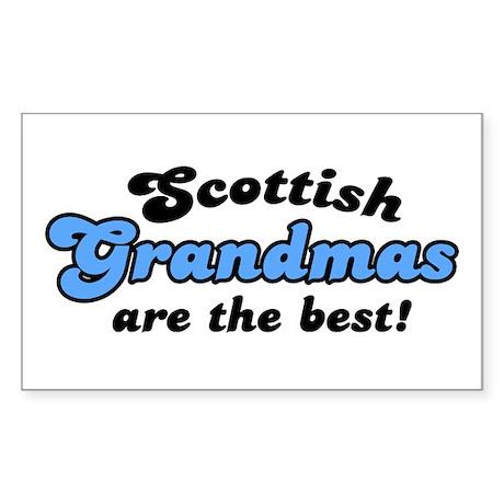 Scottish Grandmas are the Best Sticker (Rectangula