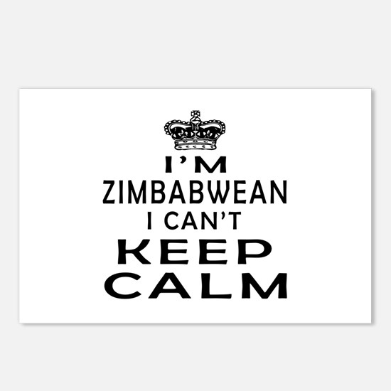 I Am Zimbabwean I Can Not Keep Calm Postcards (Pac