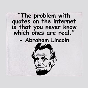 Abraham Lincoln Internet Quote Throw Blanket