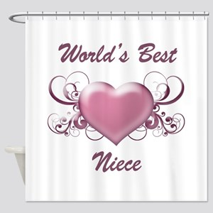 World's Best Niece (Heart) Shower Curtain