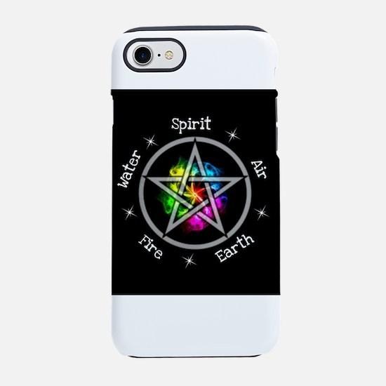 Pagan Wiccan Elemental pentagr iPhone 7 Tough Case