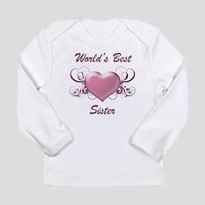 World's Best Sister (Heart) Long Sleeve Infant T-S