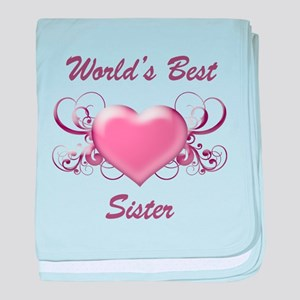 World's Best Sister (Heart) baby blanket