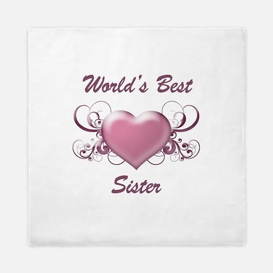 World's Best Sister (Heart) Queen Duvet