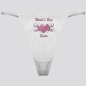 World's Best Sister (Heart) Classic Thong
