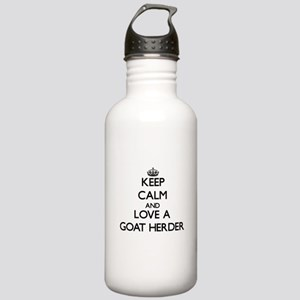 Keep Calm and Love a Goat Herder Water Bottle