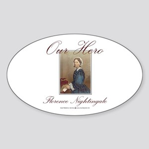 Our Hero Florence Nightingale Oval Sticker