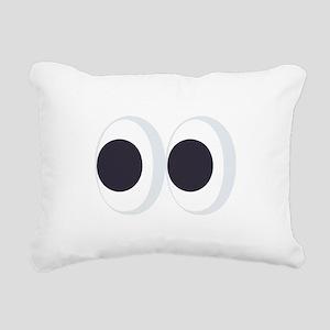 Eyes Emoji Rectangular Canvas Pillow