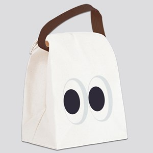 Eyes Emoji Canvas Lunch Bag
