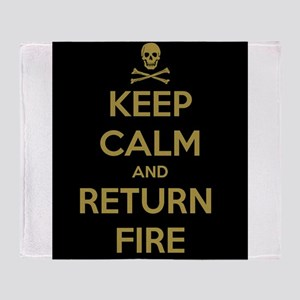 Keep Calm Throw Blanket