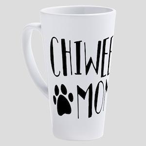 Chiweenie Mom 17 oz Latte Mug