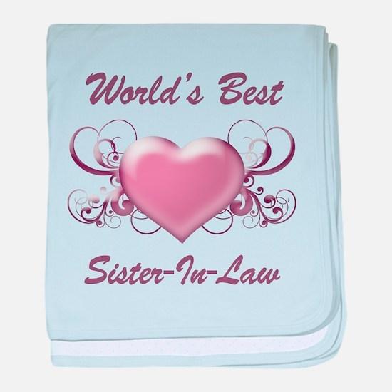World's Best Sister-In-Law (Heart) baby blanket