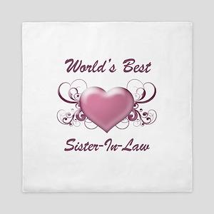 World's Best Sister-In-Law (Heart) Queen Duvet