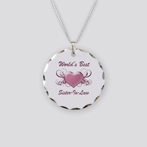 World's Best Sister-In-Law (Heart) Necklace Circle