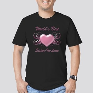 World's Best Sister-In-Law (Heart) Men's Fitted T-