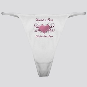 World's Best Sister-In-Law (Heart) Classic Thong