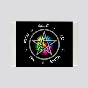 Pagan Wiccan Elemental pentagram Magnets