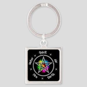 Pagan Wiccan Elemental pentagram Keychains