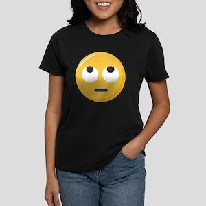 Face with rolling eyes Emoji Women's Dark T-Shirt