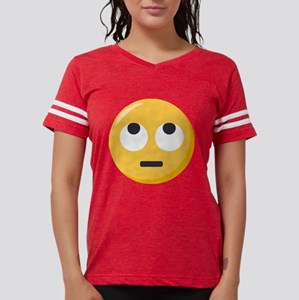 Face with rolling eyes Emoji Womens Football Shirt