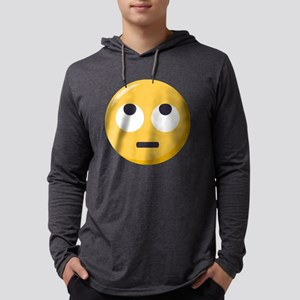 Face with rolling eyes Emoji Mens Hooded Shirt