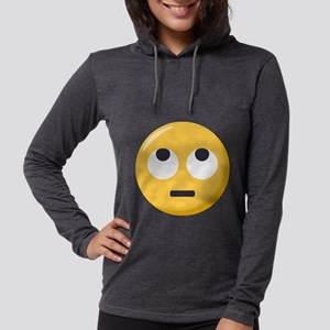 Face with rolling eyes Emoji Womens Hooded Shirt