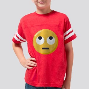 Face with rolling eyes Emoji Youth Football Shirt
