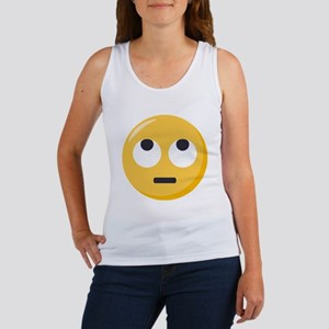 Face with rolling eyes Emoji Women's Tank Top