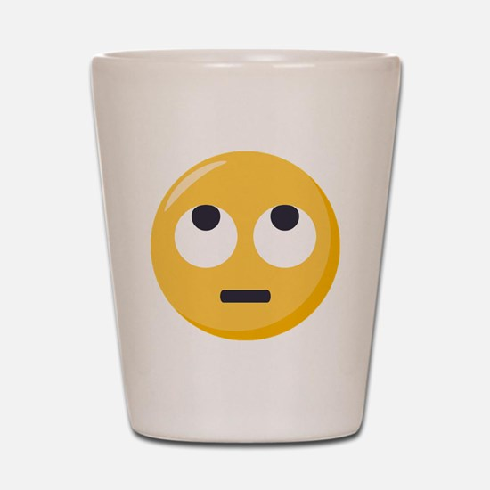 Face with rolling eyes Emoji Shot Glass