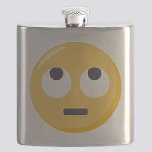 Face with rolling eyes Emoji Flask