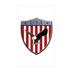 U S A Metallic Shield Sticker