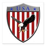 U S A Metallic Shield Square Car Magnet 3