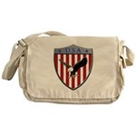 U S A Metallic Shield Messenger Bag