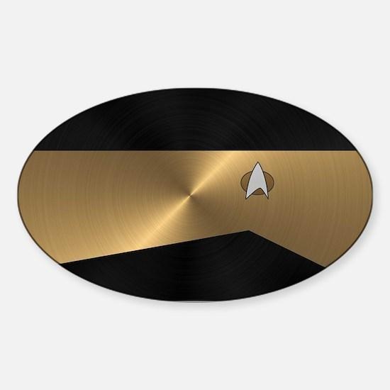 SF 2360 METAL2 GOLD Sticker (Oval)