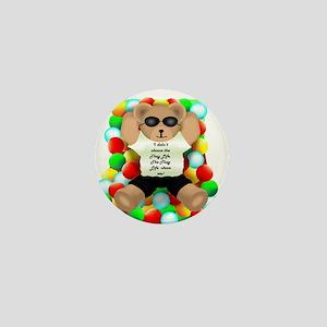 Thug Life Bear Mini Button
