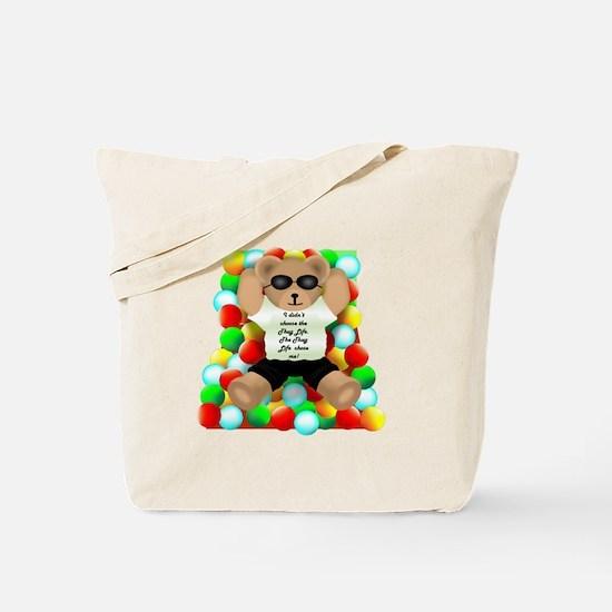 Thug Life Bear Tote Bag