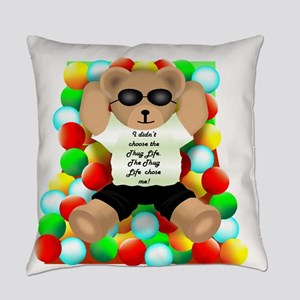 Thug Life Bear Everyday Pillow