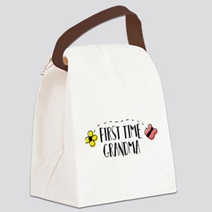 First Time Grandma Canvas Lunch Bag