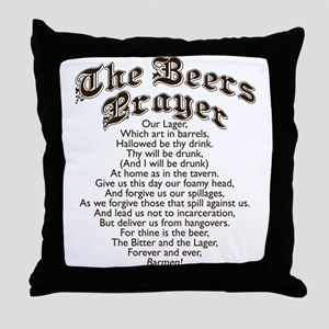 The Beers Prayer Throw Pillow