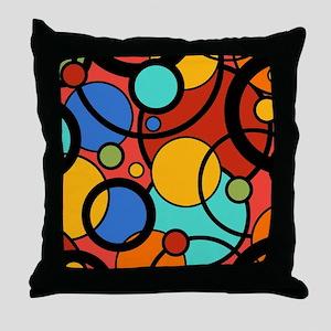 Pop Art Dots Throw Pillow