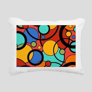 Pop Art Dots Rectangular Canvas Pillow