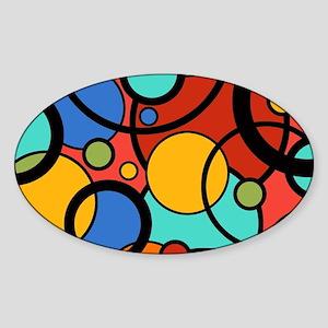 Pop Art Dots Sticker (Oval)