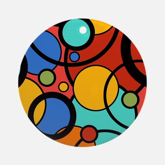 Pop Art Dots Round Ornament