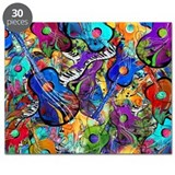 Colorful painted guitars curvy piano Puzzles