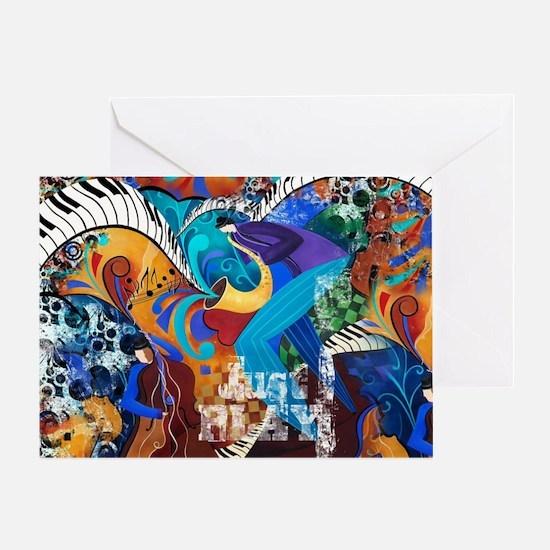 Just Play Saxophone Player Jazz Pian Greeting Card
