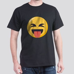 Face with stuck out tongue-Closed ey Dark T-Shirt