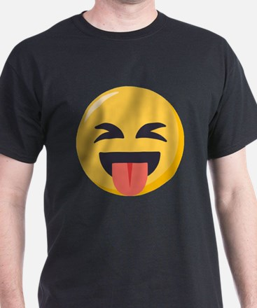 Face with stuck out tongue-Closed ey T-Shirt